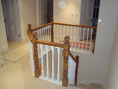 Renovated and repositioned stairs